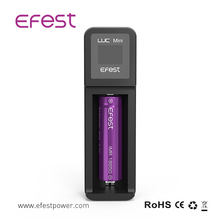 Lcd display Efest LUC mini one bay 1A USB charger from Efest china factory