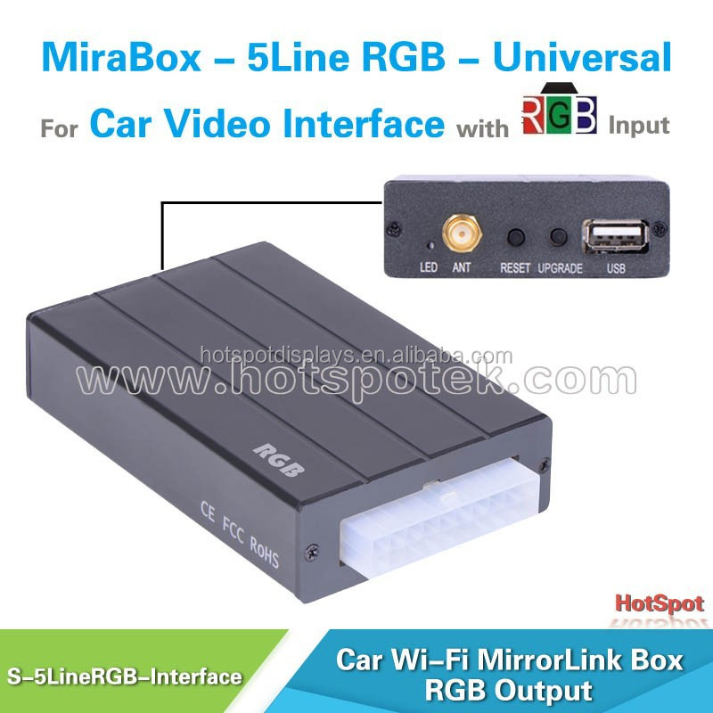 universal wireless ios and android car dvd mirror link interface for bmw