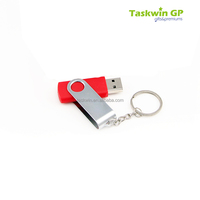 China supplier customized metal promotional keychain with USB pendant/attachment