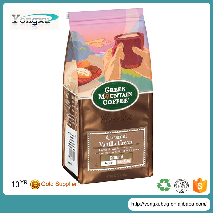 free sample promotion food grade coffee bags with valve wholesale packaging bag