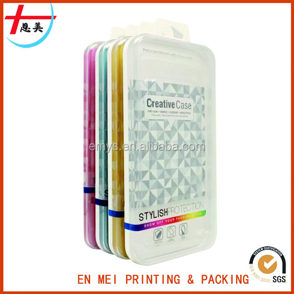 Small Transparent Plastic Mobile Phone Case Packaging Box