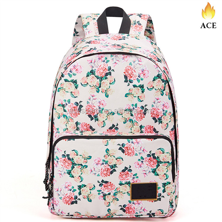 2017 Custom Wholesales Causal Travel Canvas Rucksack Backpacks for Girls School Bookbags