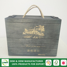 New design high glossy/lacquered individual wooden wine gift box