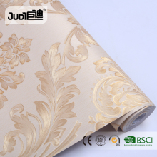 Top supplier best price popular non-woven gold wallpaper