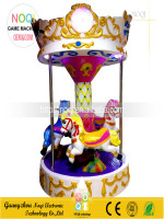 Mini amusement park ride manufacturer musical merry go round carousel for sale