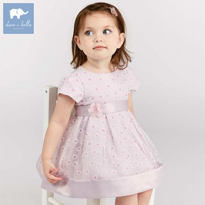 Dave bella baby floral baby girl summer clothing children birthday party wedding clothes girls Princess dress DB7458