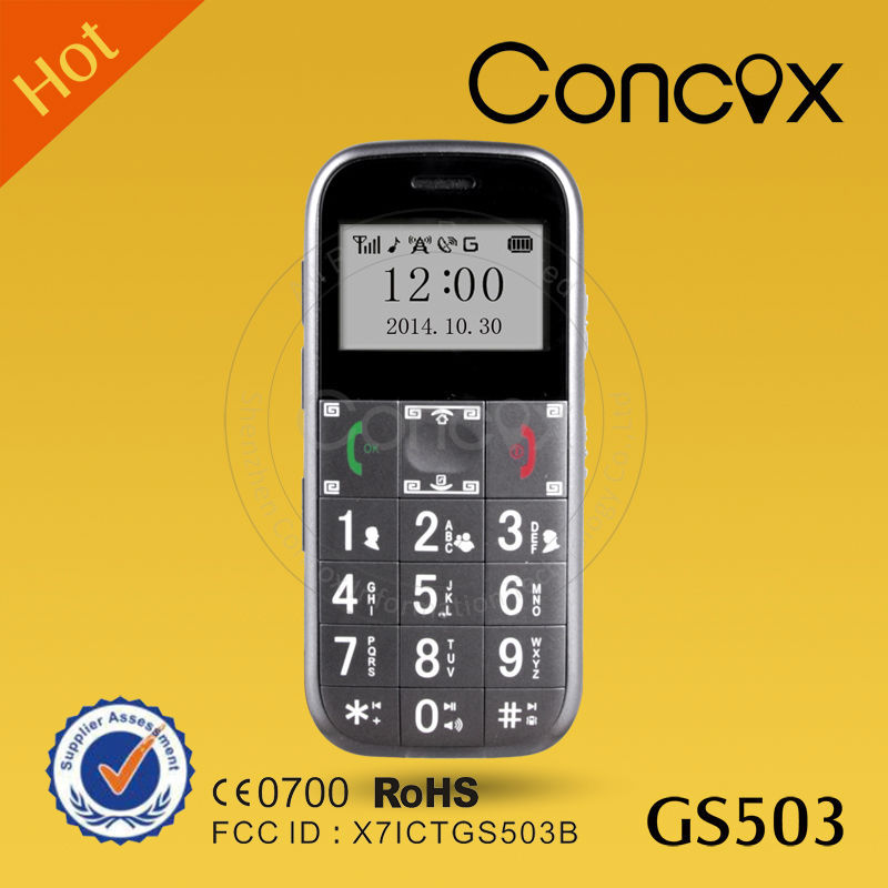 Alibaba Top Quality Hot Selling Mini Large Button Concox GS503 Mobile Phone for Old Man