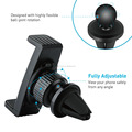 K2-AV3 360 Degree Rotation Air Vent Smart Phone Holder Car Mount for Cell Phone