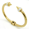 New style fashion 18K gold plating nail bangle 316l stainless steel bracelet