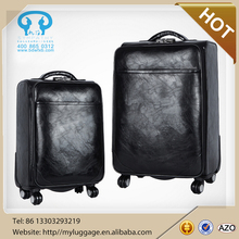 Hot selling Real goat leather vintage luggage bag luggage wholesale