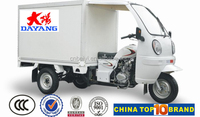 New style food trick cargo van petrol cabin three wheel tricycle for sale