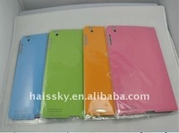 colorful high quality and simply design smart cover with leather case with PC cover for ipad 2