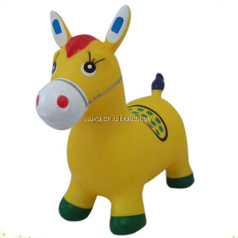 2016 Customized Inflatable Animal Toys Cartoon Plastic Toy Donkey