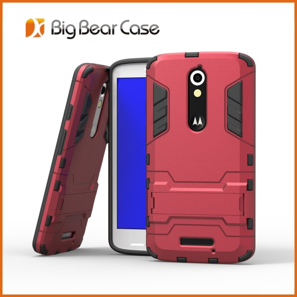 Factory stand mobile phone cover for motorola moto x play
