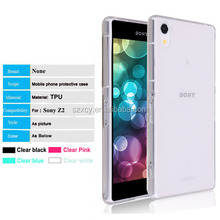 Ultra thin crystal clear shockproof mobile phone case for sony xperia z2