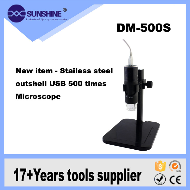 Most Popular 500X measurement software 2.0M usb microscope digital with LED