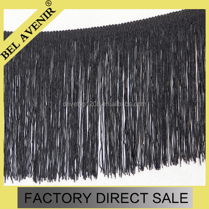 Wholesale Tassel Fringe For Curtain Fabric Decorative Accessory Black Fringe Dress