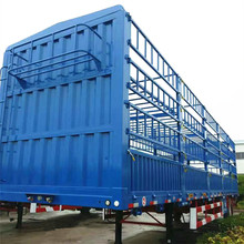 3 Axle Hot Sale Aluminum High Drop Side Board Transporting Animanls Cattle Trailer