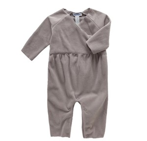 Spring and summer baby polar fleece cutting and stitching connection rompers