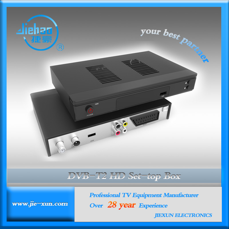 DVB-T2 Decoder Box with Smart Card