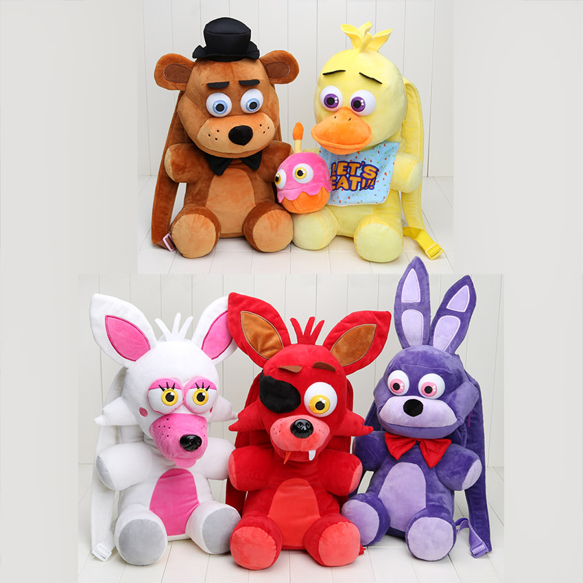 18.5'' 47CM Five Nights At Freddy's plush toy Freddy Fazbear Bonnie Mangle foxy chica plush backpack