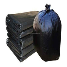 Opaque black manufactural flat plastic dust bin trash bag for heavy duty garbage
