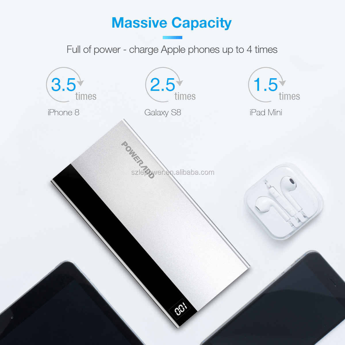 2019 Poweradd 10000mah power bank Aries1external battery charger