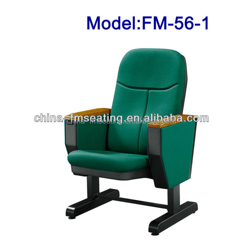 Economic tip up seat auditorium chair cover fabric