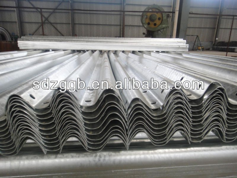 Highway guardrail Q235, include corrugated beams, posts, bolts and terminals