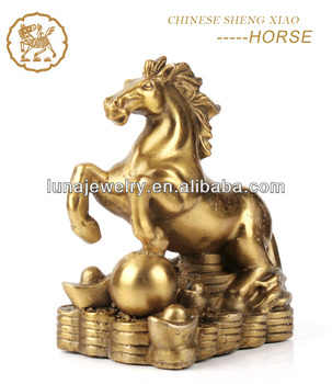 Fabulous Hong Tze Collection-Triple Chinese zodiac animals Resin Horse Statue