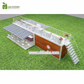 Popular hydraulic opening portable 45HQ container coffee kiosk with fast food restaurant interior design