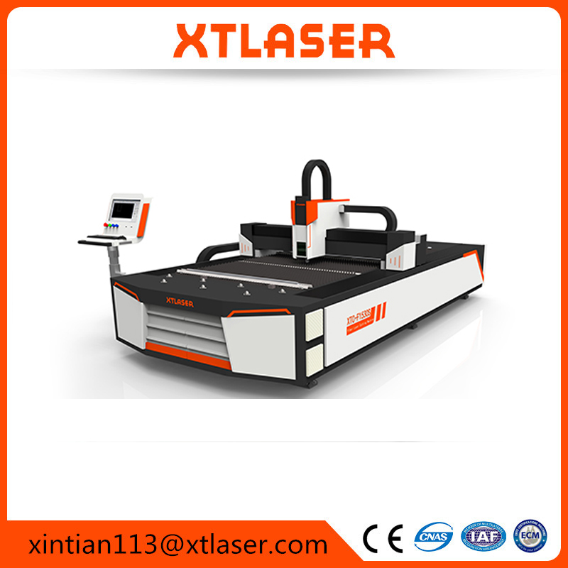 All-in-one open fiber laser cutting machine with CCC certificate for PU leather