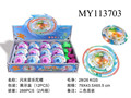 Plastic spinning top toy for kids with light and music 12 pcs /display box