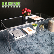 UNIVERSE waterfall transparent side lucite acrylic table terrace furniture