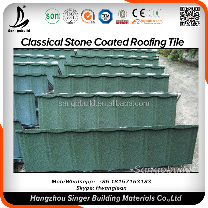 Residential Used Builiding Material Textured Stone Coated Galvanized Metal Roofing Steel Sheet
