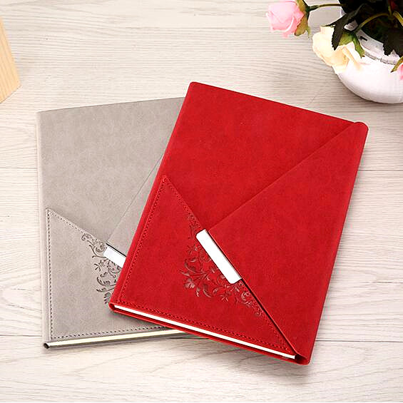 custom good quality pu leather diary notebook for office business manufacturer