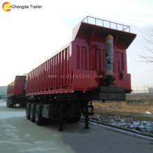 Off road transport heavy load 3 axle 35m3 dump truck trailer for Africa market