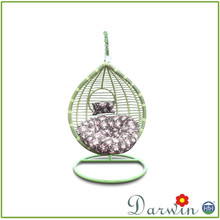 New item nice design patio furniture colorful swing rattan egg chair