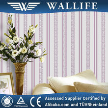 YF10603 / purple color pvc material best color match girl wallpaper