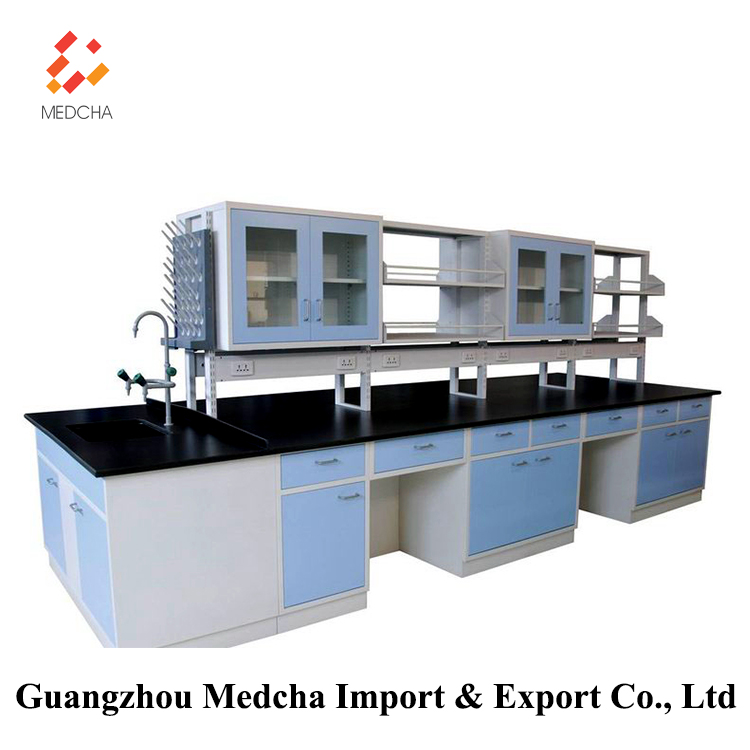 Good quality Chemistry lab wall bench table in Laboratory