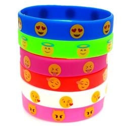 Wholesale factory price emoji silicone bracelet