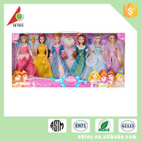 Customized new girls popular china 11 inch fashion plastic movable dolls