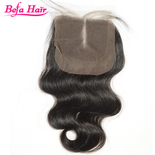 Befa Hair virgin body wave human hair ear to ear Brazilian lace closure
