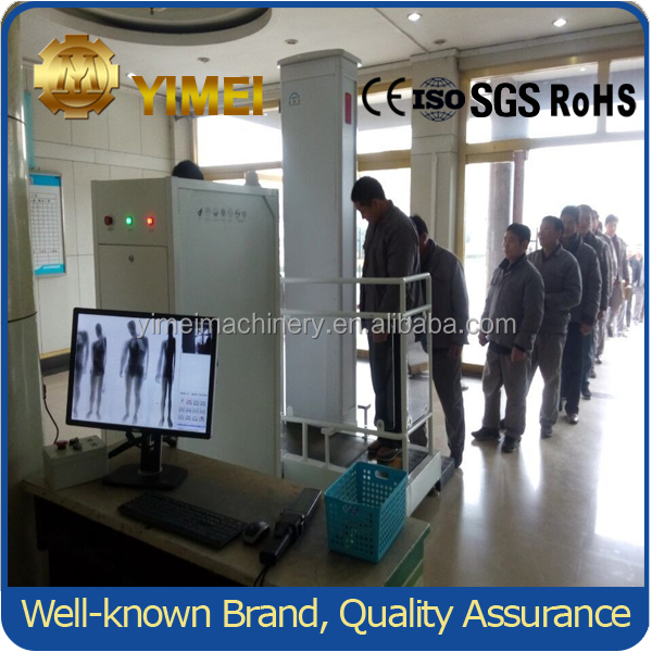 YM5010IIA Prison security using Single walking channel X-ray full body scanner