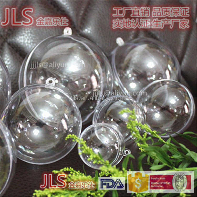 (JLS) Wholesale clear plastic christmas ball ornaments