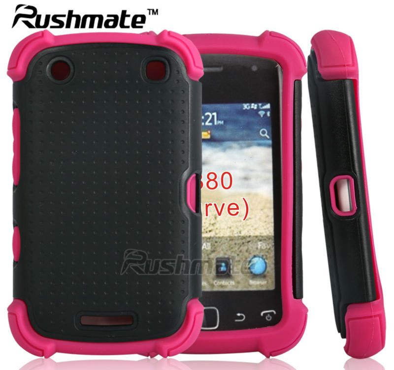 Cell Phone Combo Cover For Blackberry Curve 9380 Orlando Silicone PC Hybrid Case