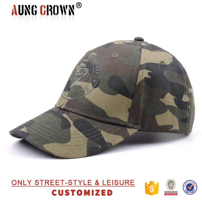 military style fitted baseball cap