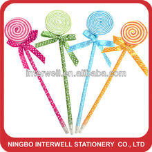 lollipop ball pen,novelty pen,funky pen