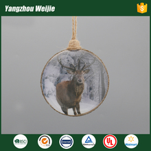 High quality promotional christmas glass deer ornaments
