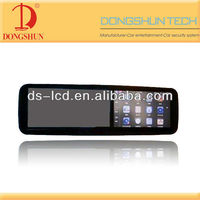 5 inch Car rearview mirror monitor with GPS navigation ,bluetooth,DVR and 2.4G signal receiver